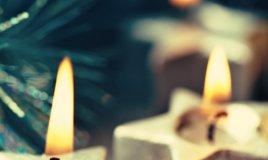 Candele faidate Natale decorazioni