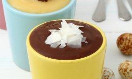 crema budino cioccolato bianco nero fondente