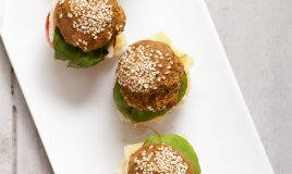 mini burger melanzane antipasto finger food