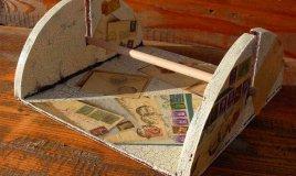 decoupage su legno