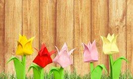 fiori di carta origami semplici tutorial