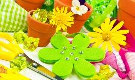 fiori di stoffa fai da te semplici