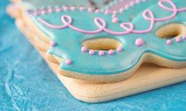 maschere in pasta di zucchero, cake design Carnevale