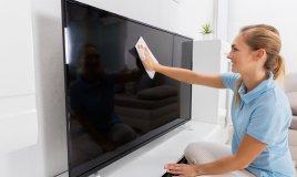 come pulire, schermo tv, senza aloni, schermo televisore, senza rovinarlo