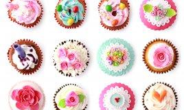 cupcake primavera, idee floreali, pasta di zucchero, cupcake, cake design primavera