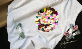 cambio dell'armadio, perline, paillette, riciclare vestiti vecchi, riciclare abiti usati