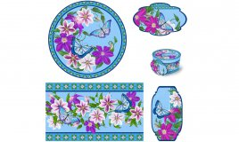 decoupage festa mamma, set decorativi decoupage, scatola decoupage, vassoio decoupage