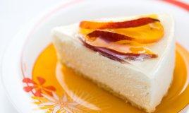 torta fredda yogurt greco, cheesecake yogurt greco, torta fredda yogurt greco miele