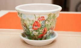 rinnovare vasi terracotta, vasi terracotta decoupage