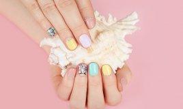 nail art, decorazione, unghie corte