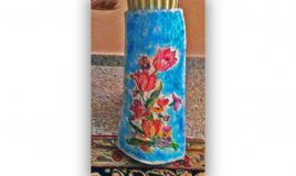 decorare tegola terracotta decoupage, tegola decoupage