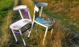 come decorare sedia legno decoupage, decoupage legno