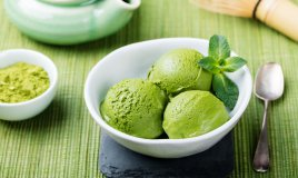 gelato, tè verde matcha, ricetta