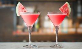 martini, cocktail, anguria