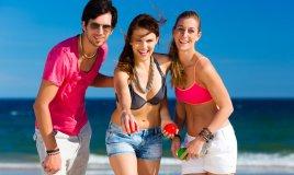 giochi, adulti, spiaggia