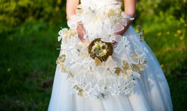 bouquet sposa originali, bouquet sposa senza fiori