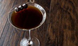 black devil martini, cocktail, halloween