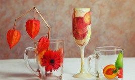 come decorare bicchieri di vetro, decoupage vetro