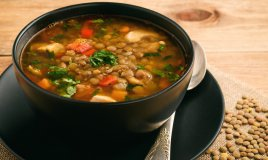 zuppa lenticchie, zuppa pollo, lenticchie ricetta