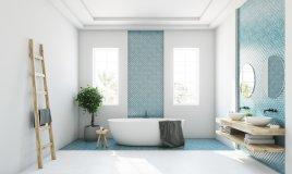 arredamento, bagno moderno, stile funzionale
