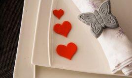decorazioni tavola san valentino