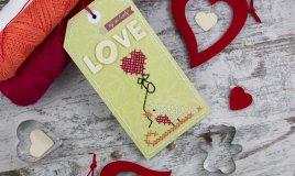 schemi punto croce amore, punto croce san valentino