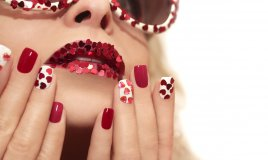 san valentino, nail art, unghie