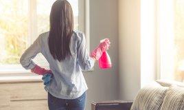 pulire casa, donna