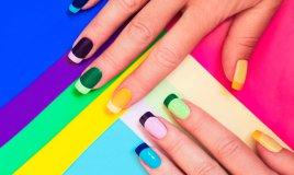 nail art, nastro adesivo, disegni