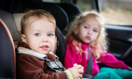 bambini, macchina