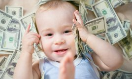 bambino, soldi