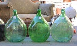 decoupage damigiana vetro, decorare damigiana vetro