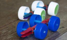 riciclo creativo tappi plastica