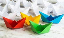 barchetta di carta origami, come fare una barchetta di carta