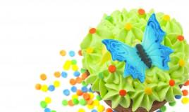 farfalle pasta di zucchero, farfalle cake design