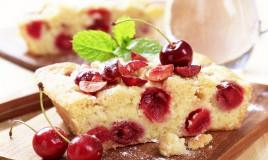 torta, ciliegie, ricetta