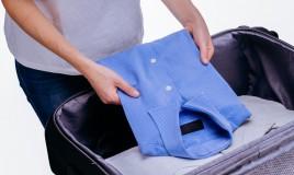 piagare camicia valigia, come trasportare camicie in valigia