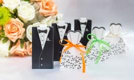 scatoline portaconfetti fai da te, scatoline matrimonio fai da te