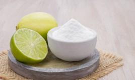 maschera viso, bicarbonato sodio, limone