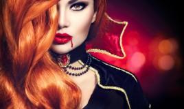 trucco, halloween, vampira