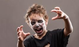 zombie, trucco, bambino