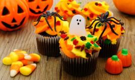 cupcake halloween pasta di zucchero, decorazioni halloween pasta di zucchero, cupcake halloween