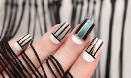 nail art, righe, decorazione unghie