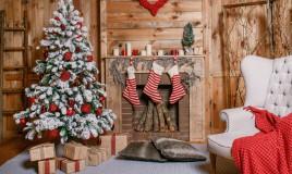 albero di Natale, bianco, rosso