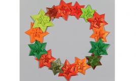 ghirlanda natale origami