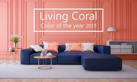 arredare casa, Pantone, Living Coral