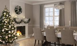sala da pranzo, Natale, pulizia