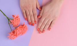 nail art, pantone, living coral