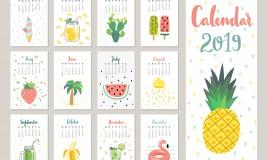 calendario 2019 da stampare, agenda 2019 da stampare