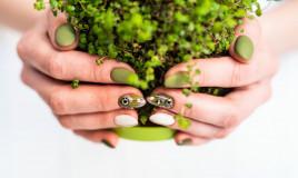 nail art, verde militare, unghie